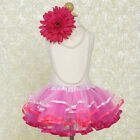 Pink Ombre TUTU SKIRT GIRLS Dance Petticoat Birthday Party Toddler Costume SALE