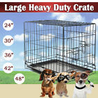 "48 42 36 30 24"" 2 Door Pet Folding Suitcase Dog Cat Crate Cage Kennel w/ABS Tray"