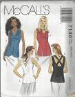McCalls Sewing Pattern # 7140 Misses Sleeveless Tops w  Variations Choose Size
