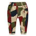 New Baby Toddler Boys 100% Cotton Fashion Camouflage Casual Pants P1250