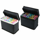 80 Colors Art Sketch Twin Marker Broad Fine Point Paiting Pen Set