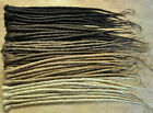 Dreadlock Extensions SINGLE ENDED 50cm long, 1cm wide, Full Head (50 extensions)