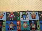 Baby Boy Robot Minky Blanket.You pick color & add your childs name.