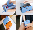 Leather Hot Fresh 6 Colors Envelope Wallet Case Purse Samsung Galaxy Iphone 4 4S