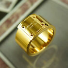 NEW AUTHENTIC MICHAEL KORS LOGO PLATE RING SIZE 7 GOLD