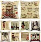 "LUXURY VINTAGE TAPESTRY CUSHION COVER 18"" x 18"" JACQUARD COVERS"