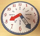 Clock Teaching aid - Learn To Tell the time (Blue & Red)