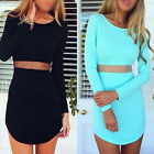 Sexy Women Mini Dress Bodycon Long Sleeve Slim Cocktail Casual Party Short Dress