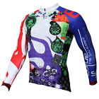 Men Long Sleeve Clothing Road Cycling Bike Sports Jersey Sprint Colorful