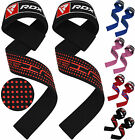RDX Padded Weight Lifting Training Gym Straps Hand Bar Wrist Support Gloves CA