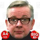 MICHAEL GOVE Face Mask BIG A3 or A4 - PRIME MINISTER EUROPE REFERENDUM BORIS MAY