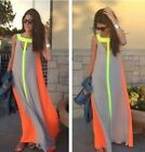 HOT Womens Ladies Boho Sexy Summer Beach Evening Party Long Maxi Chiffon Dress