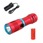 Bright 6000LM Underwater 100M Scuba Diving CREE XM-L2 LED Flashlight Torch 26650