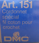 DMC Art 151 Cordonnet Cotton Crochet Lace Thread Blanc Ecru 5 10 30 80 100 20g