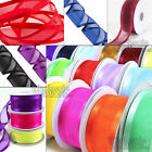 Satin Edge Organza Quality Reels of Ribbon 50m Long Roll Lengths Width Crafts