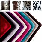 "Mink Faux Fur Cushion Covers 18"" x 18"" 45 x 45 CM 11 Colours With Optional Inner"