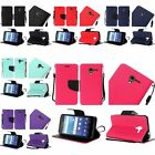 For Kyocera Hydro View Premium PU Leather Flip Wallet Credit Card Cover Case