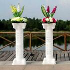 Внешний вид - White Plastic Roman Pillar Wedding Columns w Lights Garden Venue Decorations Set
