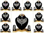 Indian Bollywood Style Fashion Gold Plated Bridal Jewelry Necklace Set  Style 10