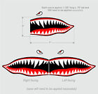 Flying Shark Teeth decals WWII Military Airplane Motorcycle Car Truck Bike Boat