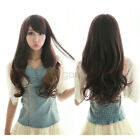 New Lady Fashion Long Curly Wavy Hair Side Bang Full Wig Cosplay Party Women Wig