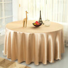 23 Colors Plain Round Tablecloth Satin Square Table Overlay For Wedding Party
