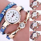Women's Fashion Watch Ladies Faux Leather Rhinestone Analog Quartz Wrist Watches