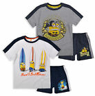 Boys Official Minions T-Shirt & Short Set New Kids Despicable Me Outfit 3-8 Yrs