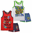 Boys Teenage Mutant Ninja Turtles Vest Top And Shorts New Kids TMNT 2 Piece Set