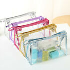 HIGH QUALITY TRAVEL ZIP BAG CLEAR AIRPORT GYM TOILETRIES CABIN HOLIDAY POUCH