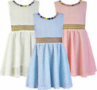 Girls Dress Grecian Style Short Lace Summer Dresses Kids Clothes Ages 2-12 Years