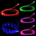 Micro USB Charge Data Sync Cable LED Visible Light Smile Face for Android HTC