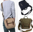 men women canvas tote shoulder bag satchel Pouch Messenger travel green 2372