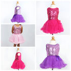 Sequin Sleeveless TUTU DRESS GIRLS Birthday Party Pageant Dance Recital SALE