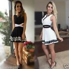 HOT Women Sexy Summer Dress Bandage Bodycon Lace Sleeveless Party Cocktail Dress