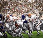 BN368 Jim Brown Browns Gets The Handoff Football 8x10 11x14 Colorized Photo