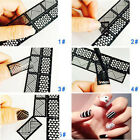 Reusable Nail Art Decor Stickers Vinyl Decal Stickers Manicure Stamping Template