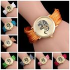 Colorful Casual Womens Girl Handmade Braided Elephant Bracelet Dial Quartz Watch