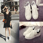 Hot Sneakers Small Pearly Shoes Lace UP Round-toe Casual Flat Heels Women Shoes