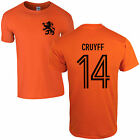 Johan Cruyff 14 T-Shirt - 70's Dutch Legend Ajax Holland Football Fan Mens Top