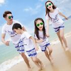 New beach Summer family Outifits mother father girls boys kids tees shorts sets