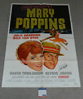 DICK VAN DYKE Signed MARY POPPINS Original ONE SHEET Movie POSTER PSA/DNA COA