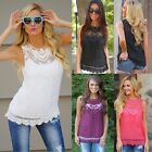 Fashion Women's Summer Vest Top Lace Sleeveless Blouse Casual Tank Tops T-Shirt