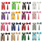 3PCS Brace Bowtie Ties Matching Sets For Boy Child Children Toddlers Kid THHtr00