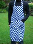 MENS WOMENS BBQ CHEFS COOKS APRONS STRIPED OR CHECK DESIGN