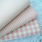 VINTAGE PINK - VINTAGE KENT 2 YARN DYED GINGHAM - COTTON FABRIC cream ground