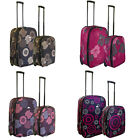 Lightweight Expandable Trolley Suitcase 2pcs Set Cabin Size plus Medium Suitcase