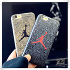 Cartoon Cool Jordan basketball Leather silk soft case cover for iphone 7 6S plus