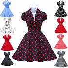 GK 50's Vintage Style Girls Short Swing Cotton Dress Casual Tea Party Size S~XL