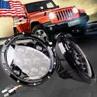 2X 7 inch 75W PHILIPS LED Headlight H4 H13 HIGH LOW Beam for JEEP JK TJ Wrangler